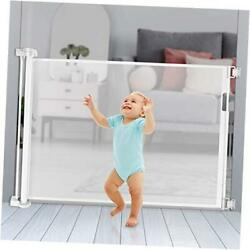Retractable Baby Gate Extra Wide Space Efficient 35 Tall And Extends To 70