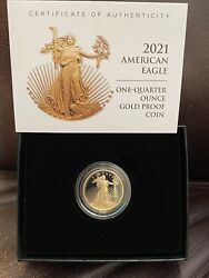 American Eagle 2021 One-quarter Ounce Gold Proof Coin 21edn Confirmed Order