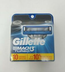 Gillette Mach3 Turbo Refill Cartridges - 10 Count 3118