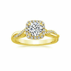 Real 1.05 Ct Moissanite Solitaire Wedding Ring Solid 14k Yellow Gold Size 5 6 7