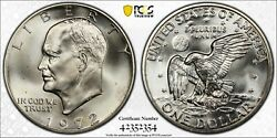 1972 S Eisenhower Dollar Pcgs Ms67 Silver Registry Coin 1 Tv Uncirculated