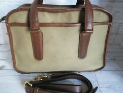 Coach Vintage Twill And Leather Collection Skinny Flight Shoulder Bag Pre-owned