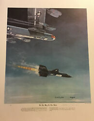 """Scott Crossfield """"on The Way To The Stars"""" Lithograph By William Reynolds Signed"""