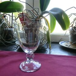1 Glasses Wine Red Or White Crystal Daum Model Orval H 4 5/16in