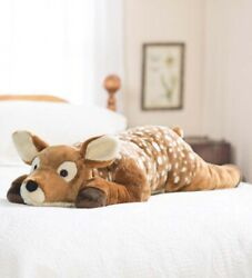 Plush Spotted Fawn Body Pillow Stuffed Deer Lg Soft Toy Animal 47l Jumbo Large