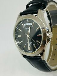 Casio Men 5336 Mtp-1370p Stainless Steel Watch Leather Strap