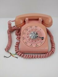 Pink Bell System Rotary Telephone C/d 500 Western Electric 1963