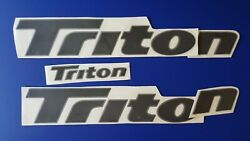 Triton Boat Emblem 26 Black + Free Fast Delivery Dhl Express - Sticker Decal