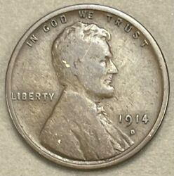 1914 D Lincoln Cent Wheat Penny 1013 1