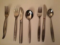Airline Silverware-twa Fork + United And Korean Airlines 3 Pc Knife Fork And Spoon