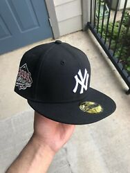 Hat Club Exclusive 7 1/4 Cookies And Cream Yankees 1999 Patch Pink Uv