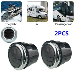 2pcs 70mm Round A/c Air Conditioning Outlet Vent For Rv Bus Car Boat Yacht Black
