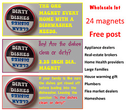 Clean/dirty Dishwasher Magnet - Wholesale Lot For Appliance Stores, Flea Markets