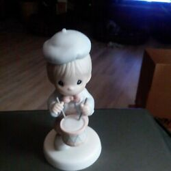 Enesco Precious Moments Marching To The Beat Of Freedom's Drum Figurine Nib