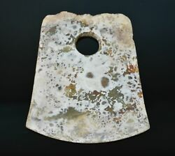 Good Chinese Liang Zhu Culture Old Jade Carved Axe Design Yue L 15.3 Cm