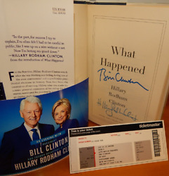 Dual Autograph What Happened Book Signed By Both Bill And Hillary Clinton Hot