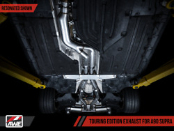 Awe Touring Edition Res Exhaust 5in Diamond Black Tips For 20-21 Toyota Gr Supra