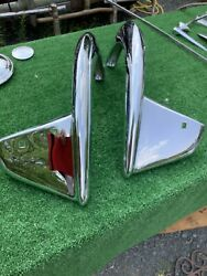 1955 Chevy Front Accessory Bumper Guard Wings Triple Plated For Show