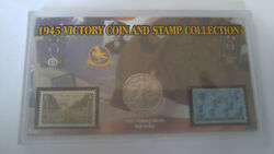 Morgan Mint 1945 Victory Coin And Stamp Collection- Half-dollar And 2 3-cent Stamps