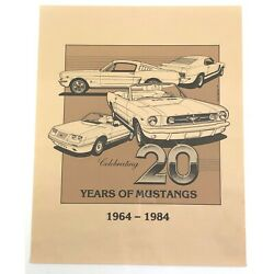 Vintage Ford Mustang Poster Print 20 Years Car David Faulkner 84 Shelby Fastback