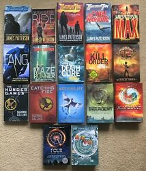 Lot Of 17 Young Adult Books Maximum Ride, Maze Runner, Divergent, Hunger Games