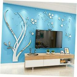 Sliver Tree Sticker Mirrors for Wall,Tree Wall Large Sliver Tree Left