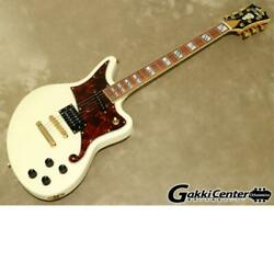 D'angelico Deluxe Series Deluxe Bedford、 Vintage White Electric Guitar