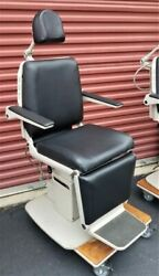Midmark 491 Ent Chair W New Black Upholstery W Side Control