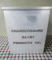 Antique Milk Porch Box, Chambersburg Dairy Products Co, Vintage Clean, Pa