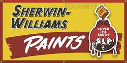 Sherwin Williams Paint Store Vintage Old School Sign Remake Banner Sign Art