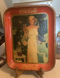 Original 1935 Madge Evans Coca Cola Trays. Great Tray With Free Shipping