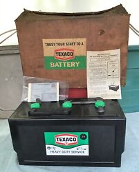 Nos Vintage Texaco Gas Station Old Chevy/gm Ford Dodge Pump Sign Tar-top Battery