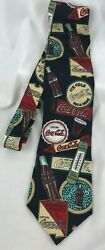Coca Cola Coke Collection Necktie Advertising Tie Bottle Thermometer Sign