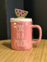 New Rae Dunn One In A Melon Pink Watermelon Figural Topper Mug Online Exclusive