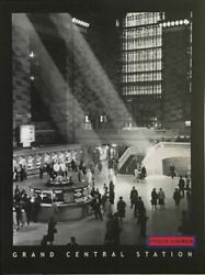Black And White Poster Of A Photograph Of Grand Central Station In New York City