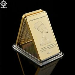 Gold Fake Bullion Egypt Queen Cleopatra Pyramid 1 Troy Oz 999 Coins Gold Bars