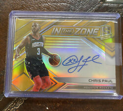 2017-18 Panini Spectra In The Zone Gold Chris Paul On Card Auto 7/10