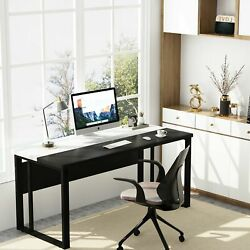 Modern Computer Desk With Splice Board And Privacy Panel Executive Office Desk
