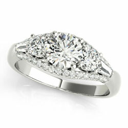 1.50 Ct Real Diamond Wedding Solitaire Ring Solid 950 Platinum Rings Size 5 6