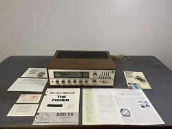 Vintage 1971 The Fisher 500-tx 500tx Stereo Receiver With Original Cabinet