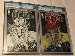 The Walking Dead 1 Wizard World Raliegh Sketch And Color Editions Lot X2 Cgc 9.8