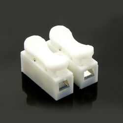 30x Electrical Cable Wire 2pin Connectors White Car Quick Splice Lock Terminals