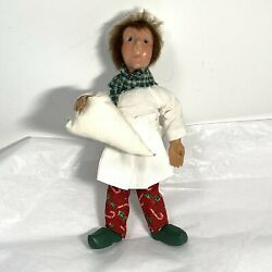 Byers Choice Kindle Bakerkin W/ Icing Bag Bendable Doll Christmas Ornament Chef