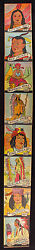 1933 R131 Western Series Of 48 Card Complete Set Fully Intact High Grade Strips