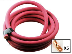 Ultra-flex Car Battery/welding Cable - 2/0 Gauge Red - 500 Feet - And 5 Lugs