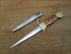 Antique Vintage Wwi-era Theater-made French Dagger Trench Knife W/scabbard
