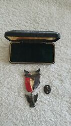 Boy Scouts Of America Vintage Robbins Type 2a Eagle Scout Medal Hat Pin And Box