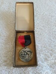 Vintage Boy Scouts Swimming Contest Medal Award Canadian
