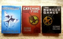 Lot First Edition The Hunger Games Trilogy Set, Suzanne Collins, Hardcovers W/dj