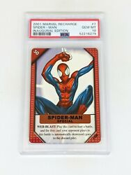 2001 Marvel Recharge Inaugural Edition 7 Spider-man Psa 10 Pop 2